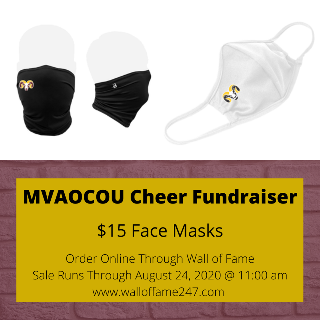 Ram Masks for MVAOCOU Cheer Fundraiser